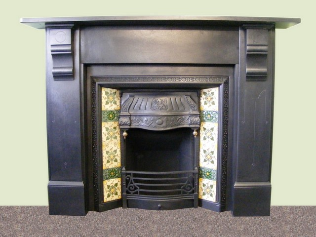 slate fireplace surround victorian slate fire surround and victorian tiled insert ass 1326