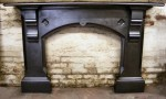 Gothic Victorian slate fire surround