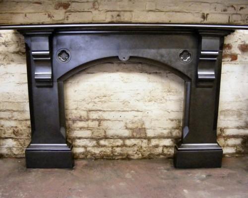 Gothic Victorian slate fire surround